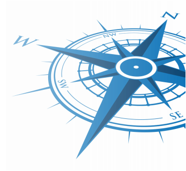 Image of a blue compass
