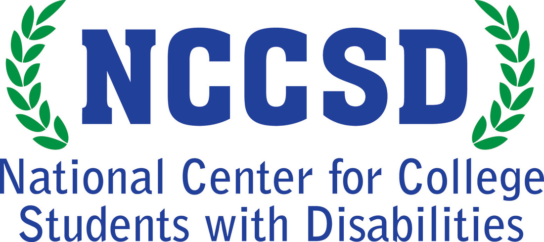 NCCSD logo blue lettering NCCSD surrounded by green laurel leaves
